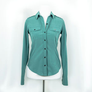 Hurley Phantom Teal Button Up
